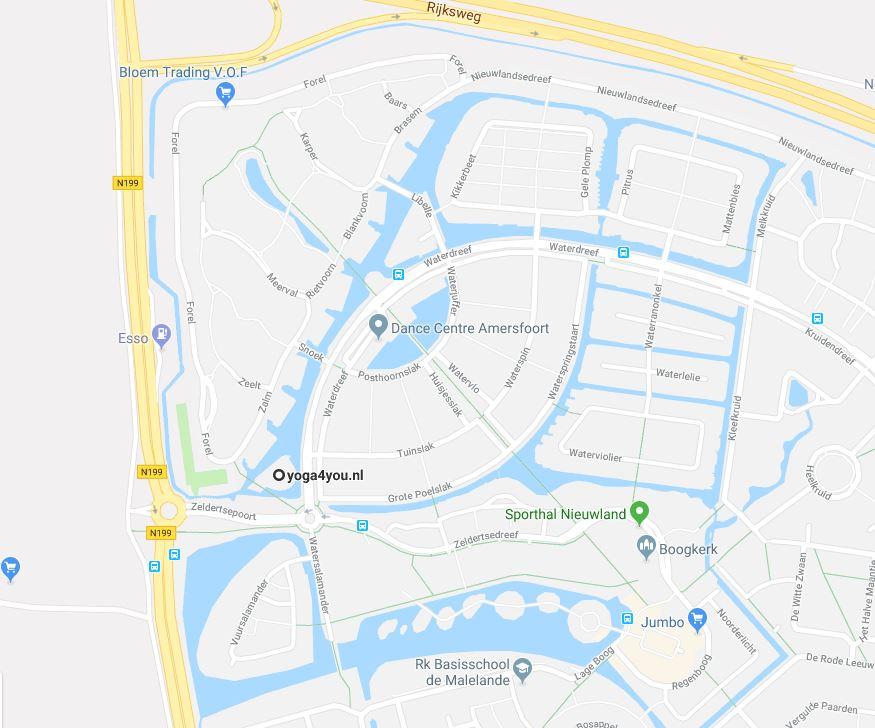 Locatie Yoga4you Nieuwland